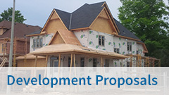 View our Current Development Proposals page