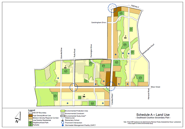 Southeast Courtice Secondary Plan area map