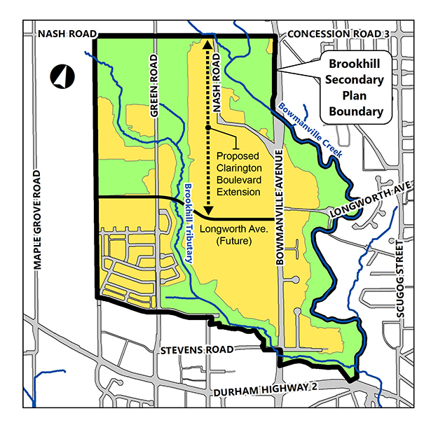 Brookhill Secondary Plan Boundary