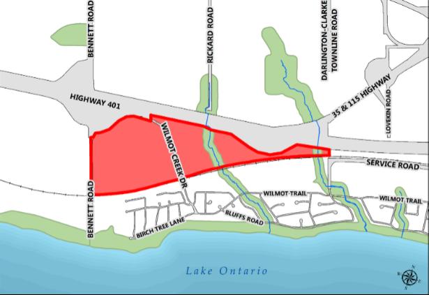 Map of Wilmot Creek Secondary Plan Boundary