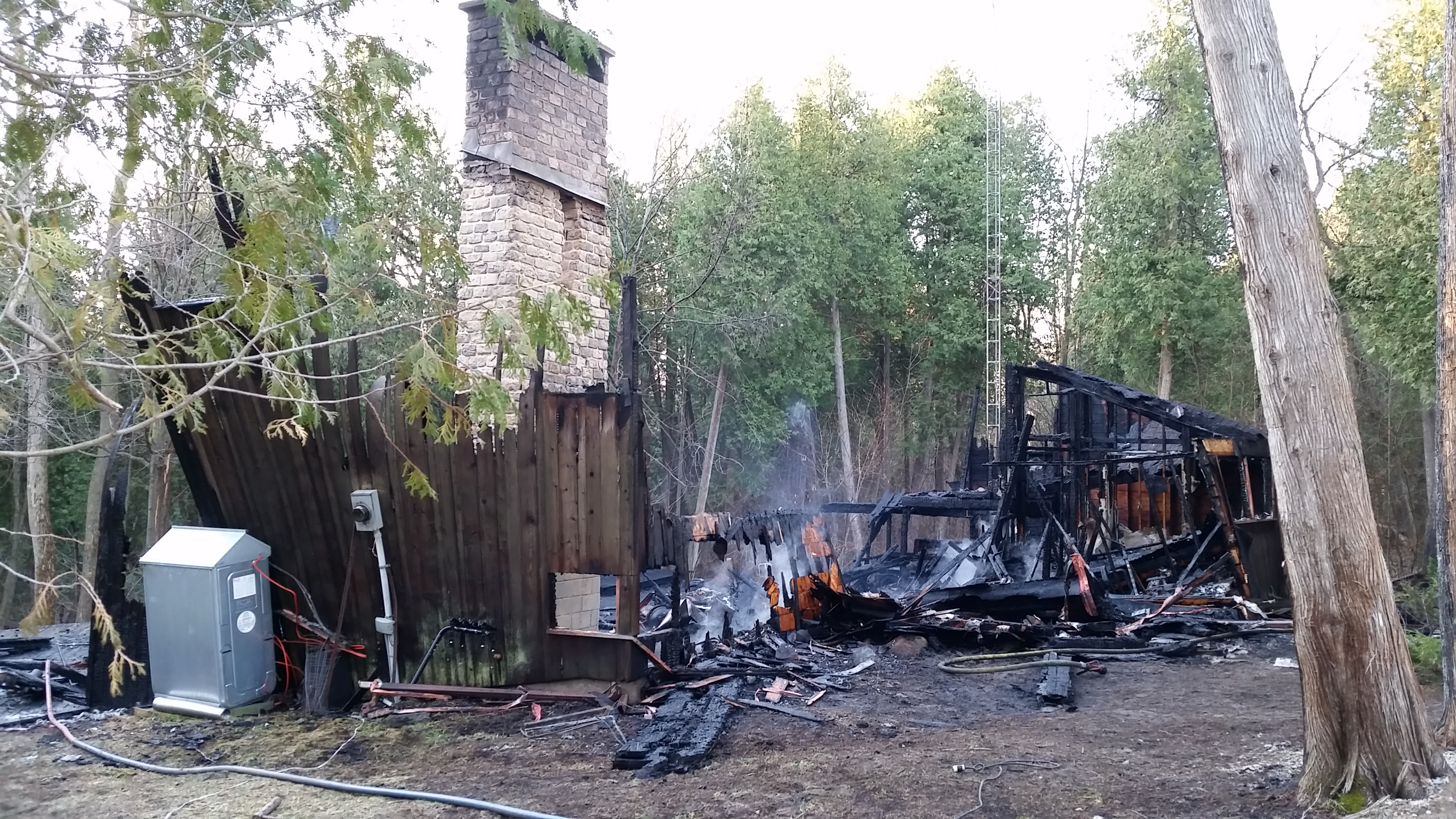 Extensive fire damage to house on Green Road