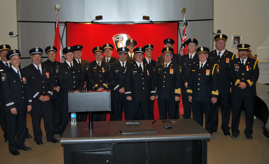 Firefighters recognized for years of dedicated service