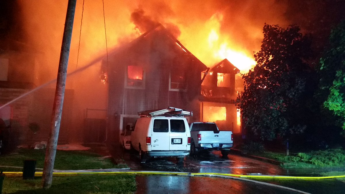 House fire in Courtice