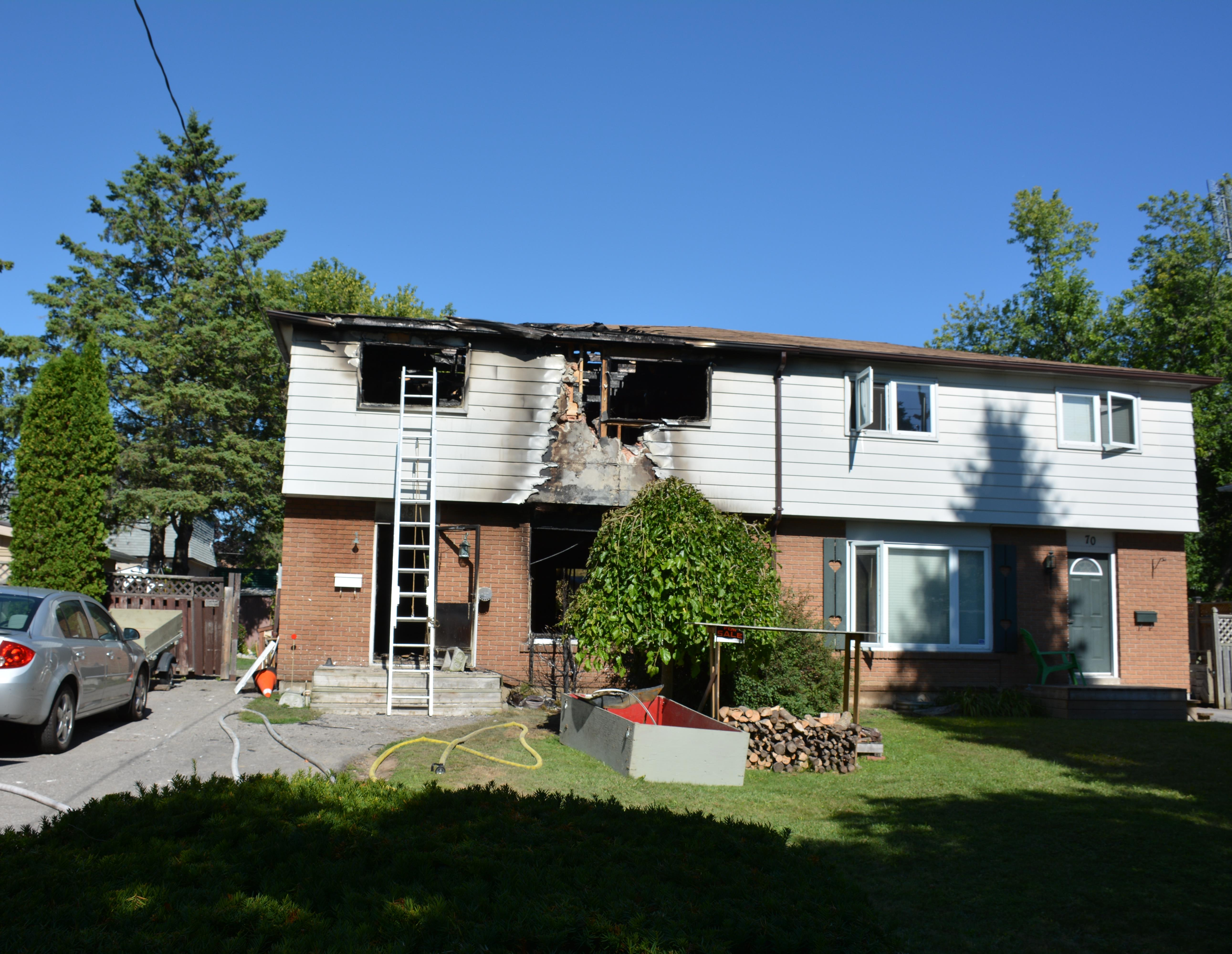 House damaged in fire