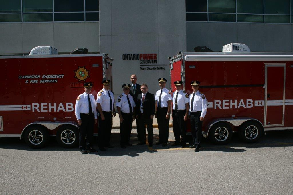 Clarington Fire Services Receives Rehab Trailer from OPG