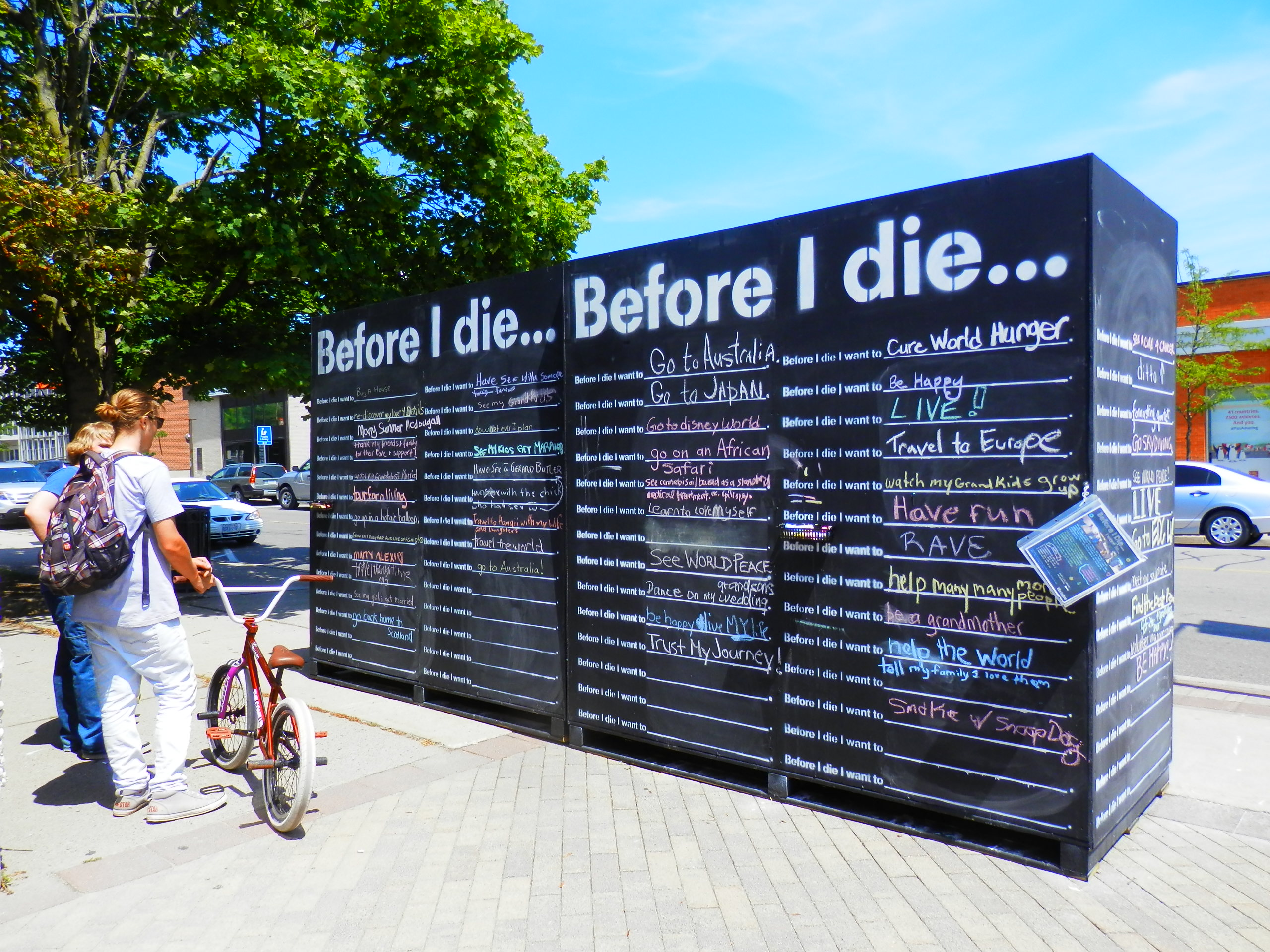 Before I Die Art Project