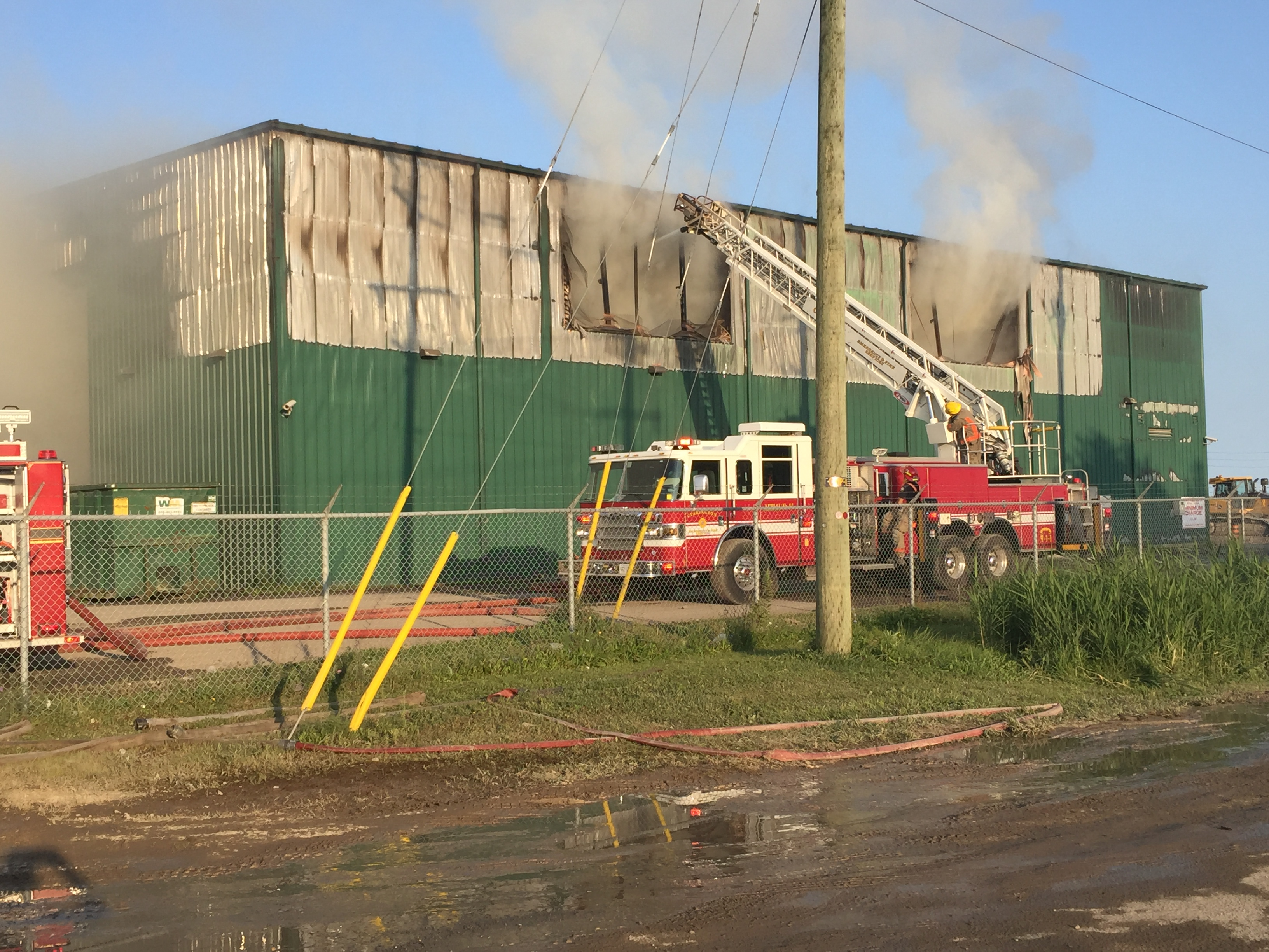 Fire at Wasye Management Facility