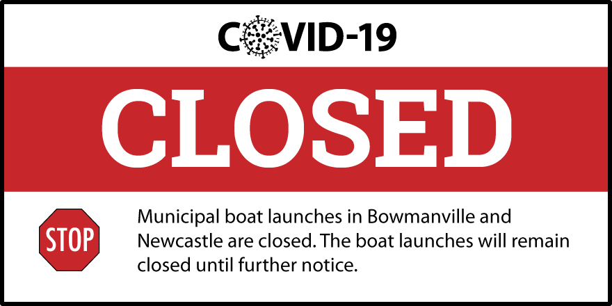 Boat launch closed