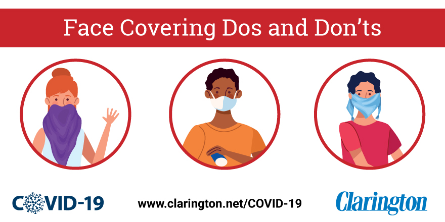 Face covering dos and don'ts