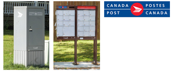 Canada Post boxes