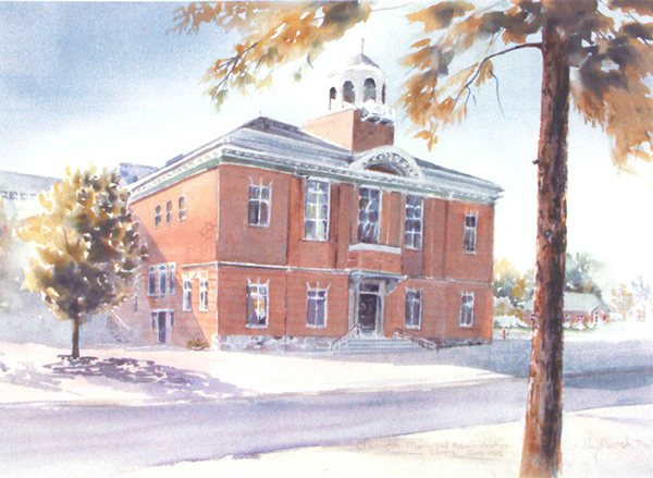 Municipal Administrative Centre - Water Colour Painting